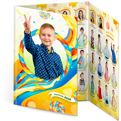 Детский выпускной альбом в сад Наслаждение трюмо 3д